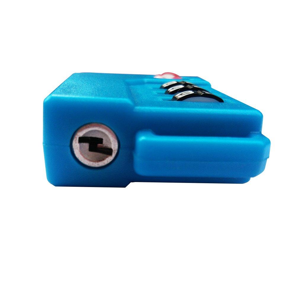 bleu TSA verrouillage de s/écurit/é Combinaison /à 3 chiffres Valise Sac de voyage Cadenas /à code Lot de 4 /étiquettes /à bagage