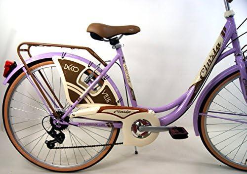 """CINZIA Oferta Regalo – Bicicleta """" decoville Lady de Mujer City-Bike Cambio Shimano 6 velocidades: Amazon.es: Deportes y aire libre"""
