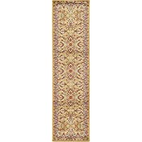 Unique Loom Agra Collection Dark Yellow 3 x 10 Runner Area Rug (2 7 x 10)