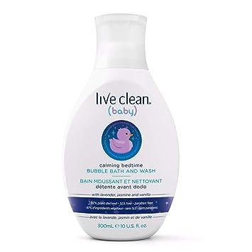 9f76b130fa Live Clean Baby Calming Bedtime Bubble Bath and Body Wash, 300 mL:  Amazon.ca: Beauty