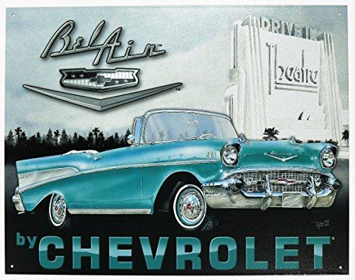 Chevy - '57 Bel Air Tin Sign 16 x 13in (Bel Air Tin Sign)