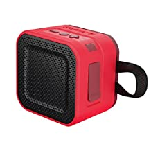 Skullcandy Barricade Mini Bluetooth Wireless Portable Speaker, Red