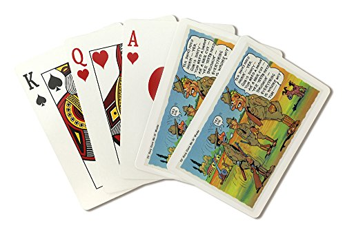 Comical Military Cartoon - Drill Sergeant Giving Soldier the Works (Playing Card Deck - 52 Card Poker Size with - Soldiers Playing Cards
