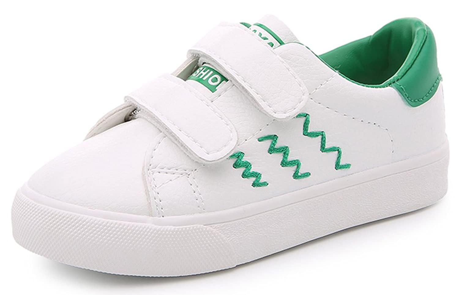 InStar Kid's Comfy Hook and Loop Sports Sneakers Shoes
