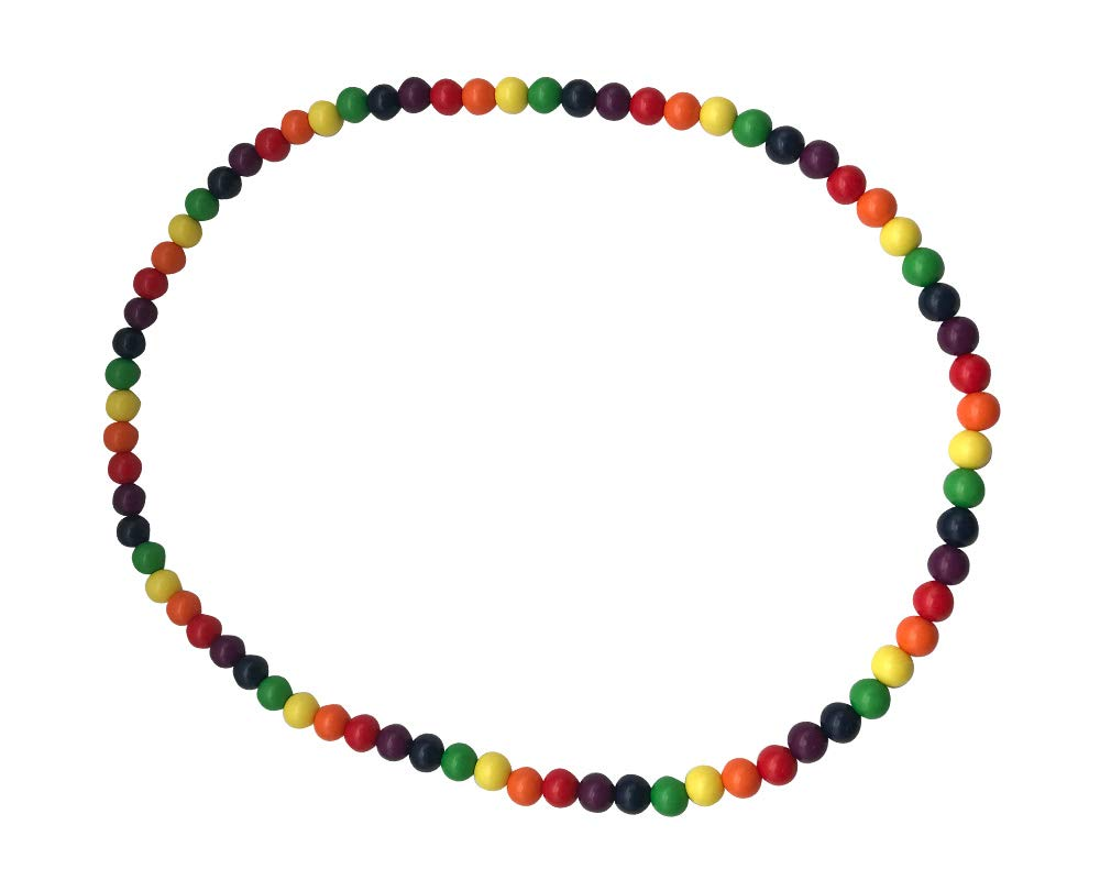Rainbow Beaded Necklaces for Gay Pride Awareness and Gay Pride Marches (25 Necklaces in a Bag)
