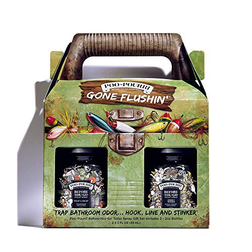 Poo-Pourri Before-You-Go Toilet Spray, Gone Flushin' Gift Set of 2, Trap-A-Crap and Smoky Woods Scent