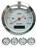 Dolphin Gauges-5 Gauge Programmable Set - White