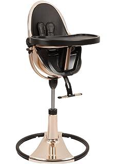 Bloom Fresco Chrome Contemporary High Chair Rose Gold/Black