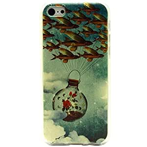 coromose? 2015 Newest Wishing Bottle Fish Pattern Soft TPU Silicone Case Cover For iphone 5c