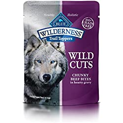 BLUE Wilderness Trail Toppers Wild Cuts Grain-free Chunky Beef Bites in Hearty Gravy Wet Dog Food 3-oz (pack of 24)