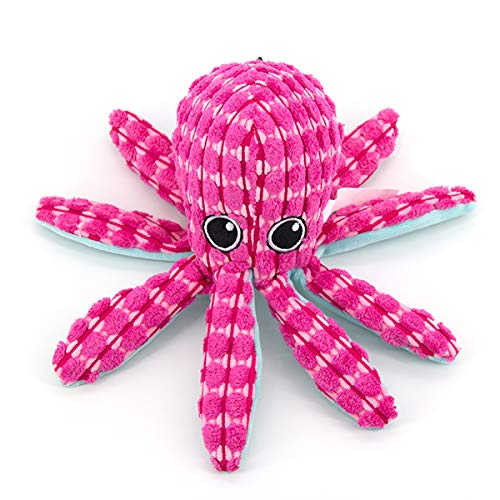 AXEN Ocean Series Dog Toys, Octopus Shape, Cute and Squeaky for Aggressive Chewers, Large Octopus