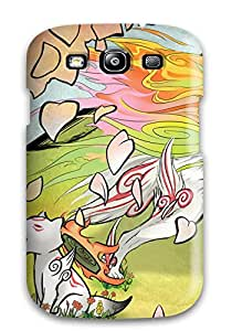 OnHZgSu14076GfIry Snap On Case Cover Skin For Galaxy S3(amaterasu Animal Butterfly Cherry Blossoms Chibiterasu Flowers Okami Petals Shiranuiolf)