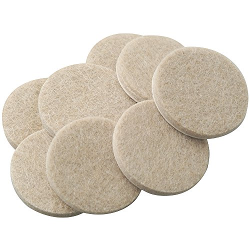 Self-Stick Furniture Round Felt Pads for Hard Surfaces – Protect your Hard Floors from Furniture Scratches, 1-1/2 Linen, Round (8 Pieces)