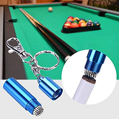 AZX Mini Pajarita de Billar, Pool Cue Tip Tool Billiard,Llavero de ...