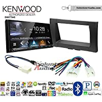 Volunteer Audio Kenwood DMX7704S Double Din Radio Install Kit with Apple CarPlay Android Auto Bluetooth Fits 2014-2017 Non Amplified Toyota Tundra