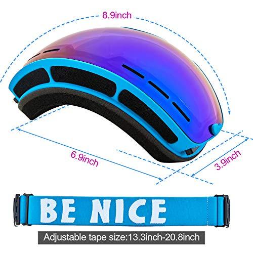 Ski Goggles Snow Snowboard Goggles for Men Women Youth 100% UV Protection Anti Fog