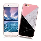 iPod Touch 5/6 Case XiaoXiMi Marble Texture Cover Soft Flexible TPU Silicone Shell Ultra Slim Lightweight Phone Skin Protective Back Cover Antiscratch Antishock Bumper for iPod Touch 5/6 - Geometric