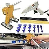 Eagle PDR Tools Paintless Dent Repair Puller Kits 30pcs with Dent Lifter, 18Pcs PDR Glue Tabs,12V Car Hot Glue Gun And 10pcs Hot Glue Sticks