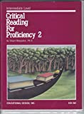 Critical Reading for Proficiency 9780876940686