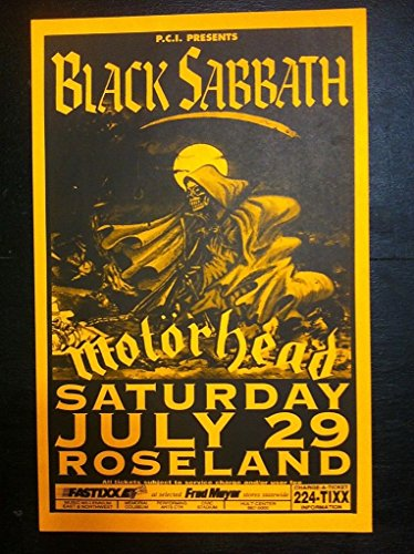Black Sabbath Ozzy Osbourne Motorhead Original Heavy Metal Concert Gig Poster from ConcertPosterArt