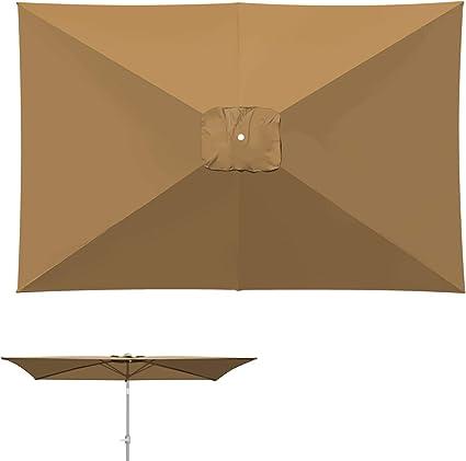 Patio Umbrella Top Canopy Replacement Cover fit 10/' 6 Rib Outdoor Umbrella
