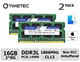 Timetec Hynix IC Apple 16GB Kit (2x8GB) DDR3L PC3L-14900 1866MHz for iMac 17,1  w/Retina 5K display (27-inch Late 2015) A1419 (EMC 2834) MK462LL/A, MK472LL/A, MK482LL/A (16GB Kit (2x8GB))