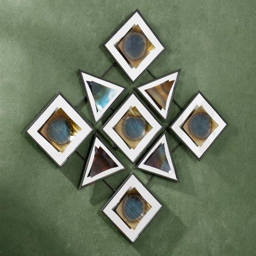SEI Geometric Mystique Wall Sculpture