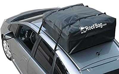 RoofBag Waterproof Carrier Bundle (Works on ALL Vehicles) - Includes Protective Roof Mat + Storage Bag for storing + Heavy Duty Straps + Explorer Soft Car Top Carrier - Made in USA