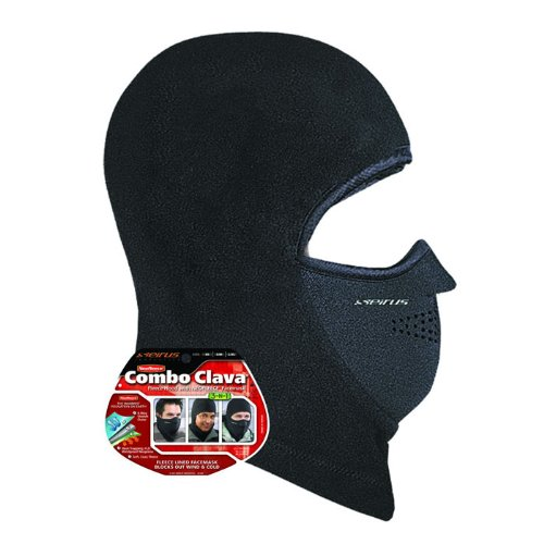 - Seirus Innovation 8039 Neofleece Polartec Combo Clava - Winter Cold Weather Head, Face, and Neck Protection, Black, Small/Medium