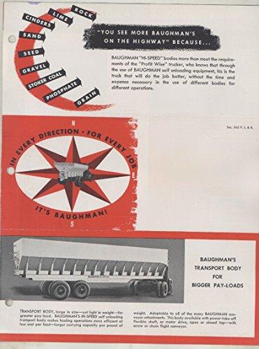 Road Spreaders (1948 Dodge Baughman Spreader Road Building Truck Brochure)
