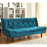 Coaster 500098 Home Furnishings Sofa Bed, Teal