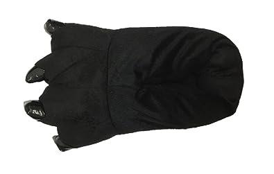 ecc3f95cc6dd Halloween Costume House Shoes Cozy Slip On Bear Paw Slippers Black M
