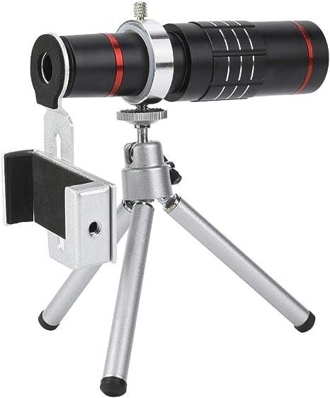 Bewinner Mini telescopio monocular con Soporte para teléfono ...