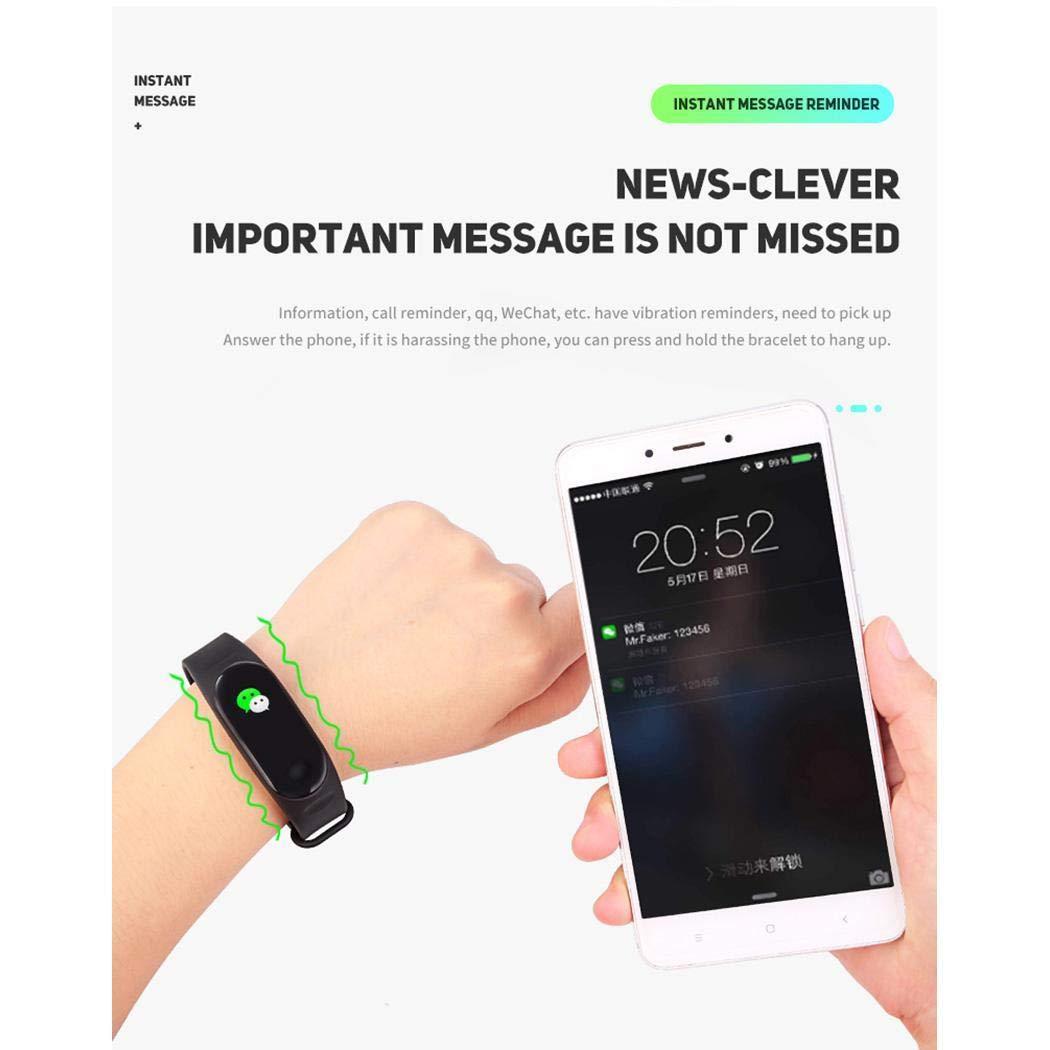 katem Braccialetto astuto della Fascia Inseguitore, per cardiofrequenzimetro Intelligente Multifunzione Bluetooth Sports Smartwatch