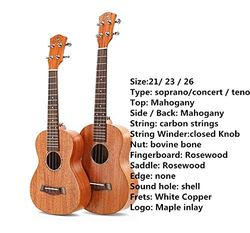 Ukulele Top Solid Soprano Concert Tenor 21 Inch Electric Guitar Ukelele Cutaway Spruce Mahogany Cedar 4 Strings Pick UP