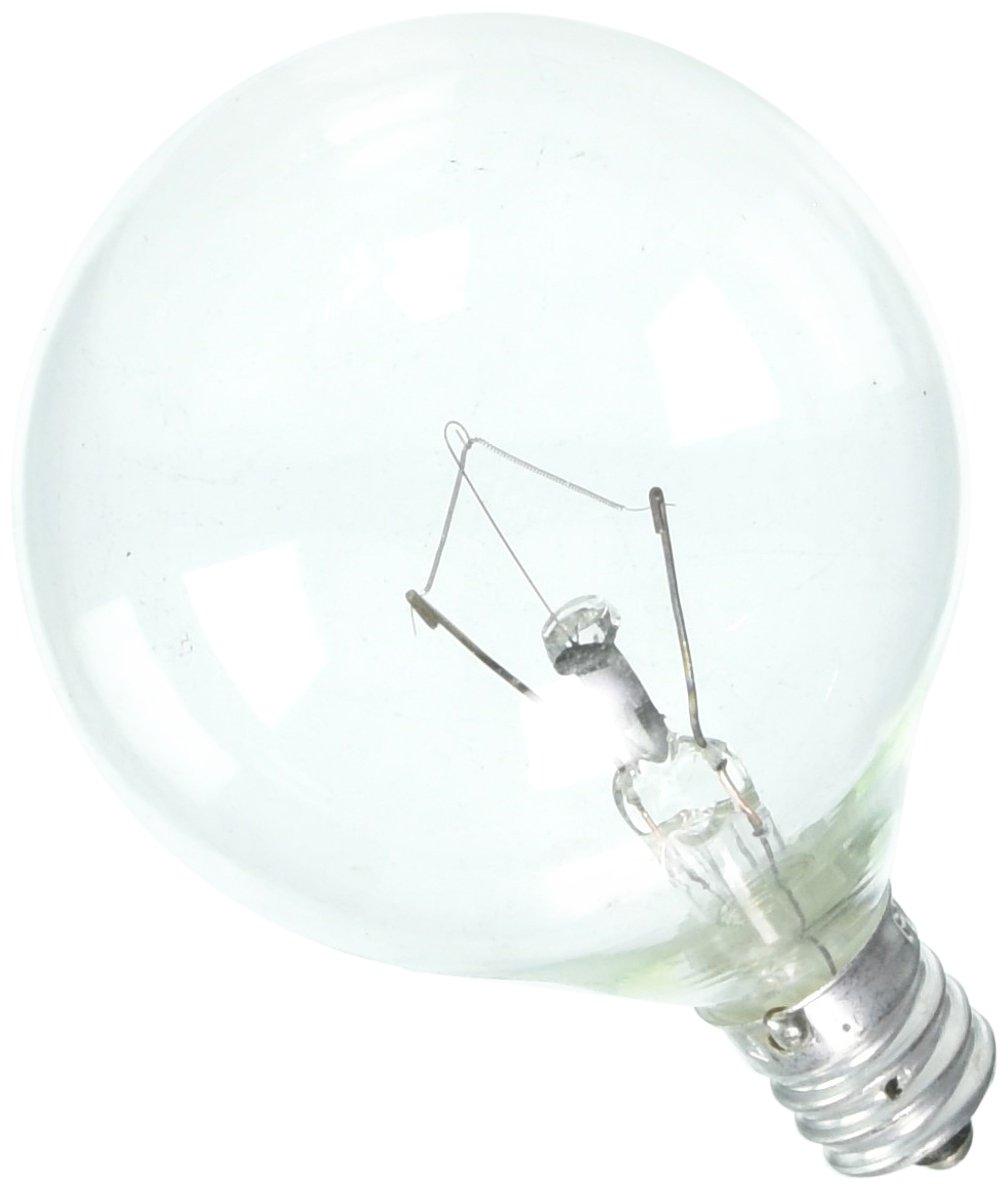 Philips LED 168450 25 Watt G16.5 Duramax Sparkling Clear Decorative Globe Candelabra Base Dimmable Light Bulb Soft White 12 Pack Piece