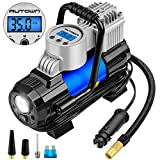 AUTOWN Air Compressor Pump, 12V DC Portable Digital Tire Inflator with Gauge 140W 120 PSI, 4 Display Units, Auto Shut-Off for Overheat Protection