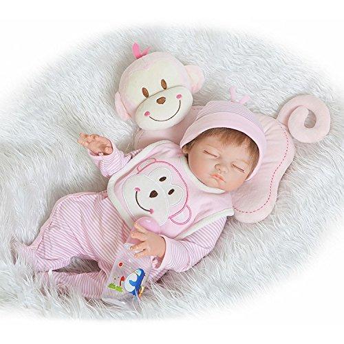 BZDOLL Realistic Reborn Baby Girl 20inch Full Body Silicone Dolls 50cm Newborn Babies Bedtime Toy Partner Boy Girl Gift for Birthday Chirstmas]()