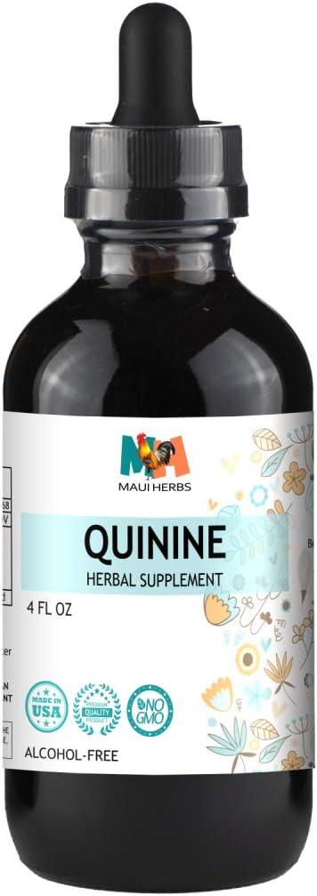 Quinine Tincture Alcohol-Free Liquid Extract, Quinine Bark Cinchona officinalis 4 FL OZ