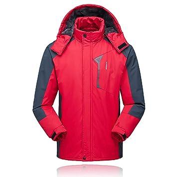 Lixada Hombres Chaqueta de Esquí Impermeable a Prueba de Viento de Lana Abrigo Invierno Deportivo para Senderismo Esquiar: Amazon.es: Deportes y aire libre