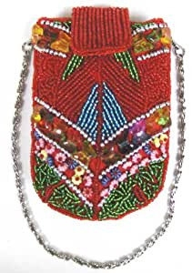 beaded Iphone case red