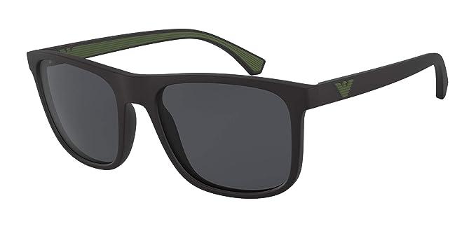 Gafas de Sol Emporio Armani EA 4129 MATTE BLACK/GREY hombre ...