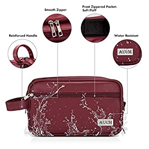 AUUM Toiletry Bag for Men & Women, Large Dopp Kit Shaving Bag for Toiletries Accessories, PU Leather Water-resistant…