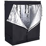Giantex Plant Growing Tent Indoor Grow Tent Room Reflective Hydroponic Non Toxic Clone Hut 6-Size Indoor Grow Tent (48''X24''X60'')