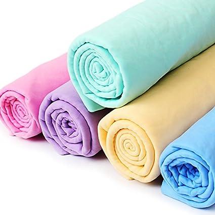 Frenshion Lot de 3 Pi/èces PVA Peaux de Chamois Cleaning Fabric Wipes Chiffon de Lavage de Voiture Nettoyage 66x43 cm