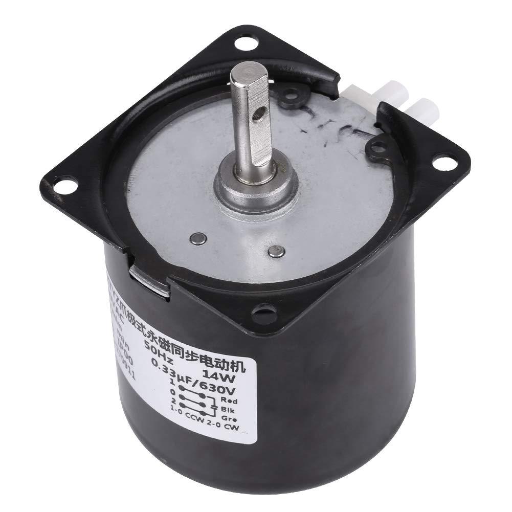 AC 220V Gear-Box 60KTYZ Motor Síncrono Eléctrico Gear Reemplazo del Motor de Engranaje (60R / Min)