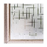 Window Film Frosted Static Privacy Decoration Self Adhesive for UV Blocking Heat Control Glass Stickers,23.6x78.7 Inches