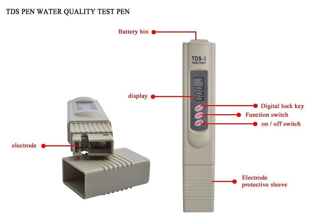 Metrology Set Of Digital TDS Meter Tester 2/% Readout Accuracy And 0-14 PH Meter Digital Tester 0.1ph High Accuracy With 2 Pack of Calibration Solution Mixture Included