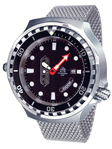 Tauchmeister men`s XL 52mm automatic movt. diver watch T0302MIL