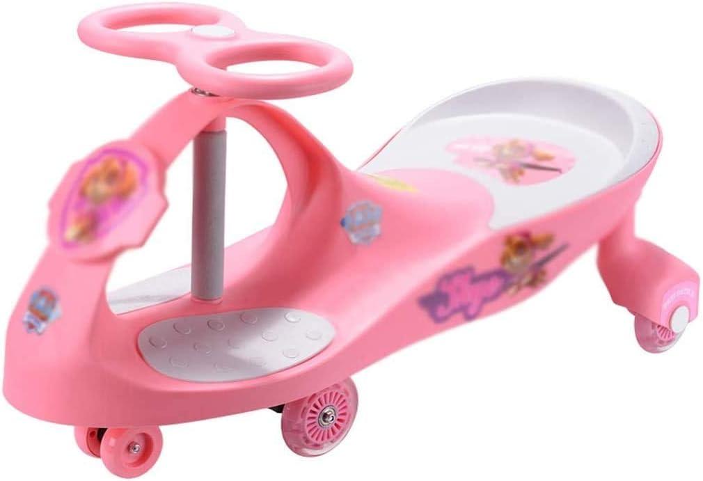 Giro del coche de tres ruedas andador coche de juguete scooter de seguridad infantil equilibrio del coche muda lanzador de carga 110kg 1-6 años de edad regalo de los niños (color: rosa, Tamaño: 40,5 *